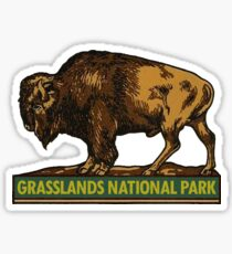 Grasslands National Park Saskatchewan Vintage Travel Decal Sticker