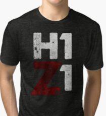 H1Z1 HQ print black Tri-blend T-Shirt