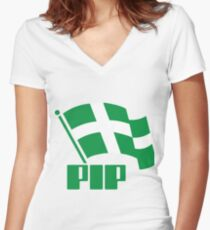Partido Independentista Puertorriqueño Women's Fitted V-Neck T-Shirt