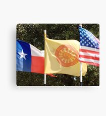 Dharma Flag Over Texas Canvas Print