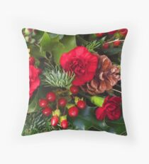 Christmas in Red Throw Pillow
