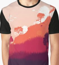 Red Landscape 24 x 36 Graphic T-Shirt