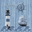 Ahoy - Maritime Blue by Monika Juengling