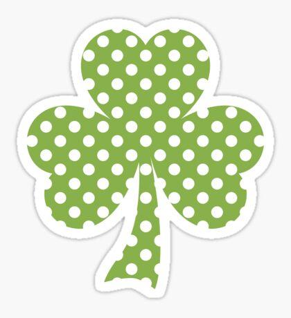 Greenery Shamrock Clover Polka dots St. Patrick's Day Sticker