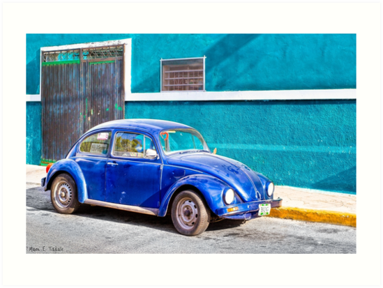 Love Bug On The Streets Of Mexico by Mark Tisdale