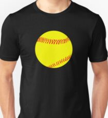 Yellow Fastpitch Softball Graphic Unisex T-Shirt