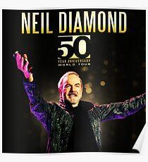 TOUR 2017 NEIL DIAMOND 50TH MIDAH Poster