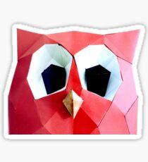 a paper Hoot Sticker