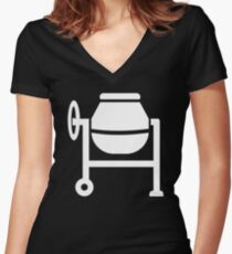 Cement mixer Women's Fitted V-Neck T-Shirt