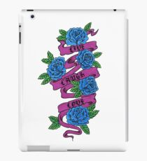 roses with scrolls.. live laugh love iPad Case/Skin