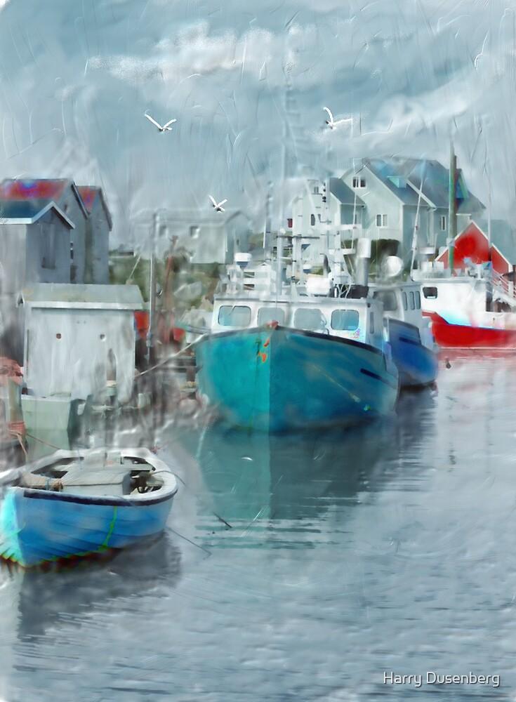 Boat Dock by Harry Dusenberg