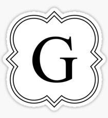 Fancy G Sticker