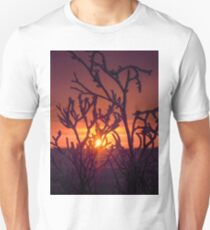 Frosted Willow with Setting Sun Unisex T-Shirt