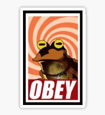 obey hypnotoad frog crazy funny humor  Sticker