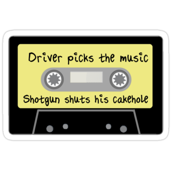 Driver Picks the Music, Shotgun Shuts His Cakehole by fangeek