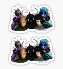 The five descendants: Jak, Shawn, ???, John and Urie Sticker