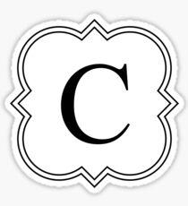 Fancy C Sticker