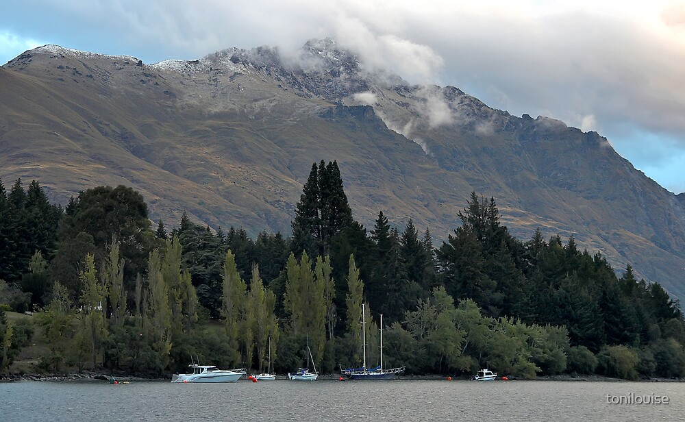 The Remarkables and Lake Wakatipu by tonilouise