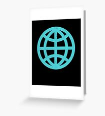 Planet Earth Globe Greeting Card