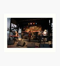 Uncle Jed on stage, Darling Harbour 2010 Art Print