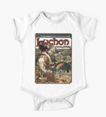 Luchon,advertisement,1895,Alphonse Mucha One Piece - Short Sleeve