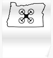 Oregon Love Drone Poster
