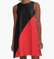 Anarcho-Communist black and red A-Line Dress