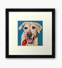 Yellow lab dog Art by Lee H Keller Framed Print