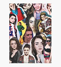 Celebrity: Maisie Williams (Collage) Photographic Print