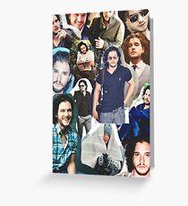 Celebrity: Kit Harington (Collage) Greeting Card