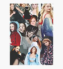 Celebrity: Sophie Turner (Collage) Photographic Print