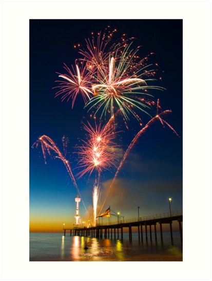 Fireworks at Brighton by Andre Gascoigne