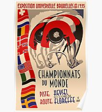 Retro cycling world championships 1935 Brussels Poster