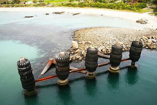 Tyred Old Jetty II by Stephen Mitchell