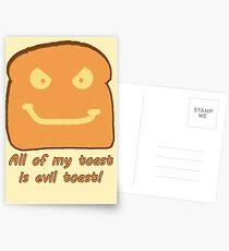Evil Toast! Postcards
