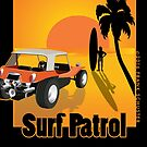 Surf Patrol Dune Buggy with Sunset by Frank Schuster