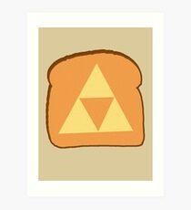 Triforce toast Art Print