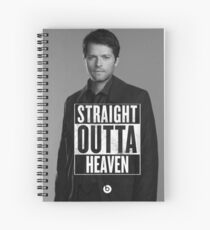 straight outta heaven Spiral Notebook