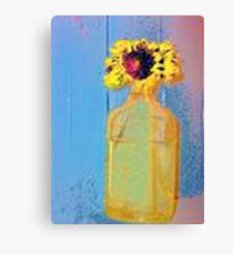 Bottled Sunflower Canvas Print