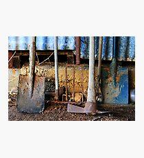 Farm Tools Photographic Print