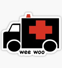 Ambulance Wee Woo Sticker