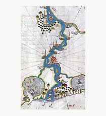Piri Reis Map of the River Nile From its Estuary South Photographic Print