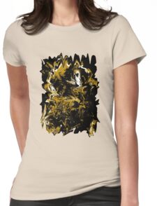 Cave Abstract Expressionism Womens Fitted T-Shirt