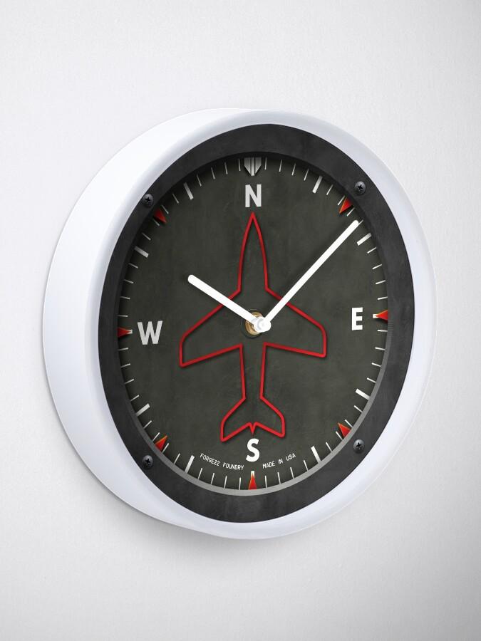 Alternate view of Heading Indicator Airplane Compass Clock Clock