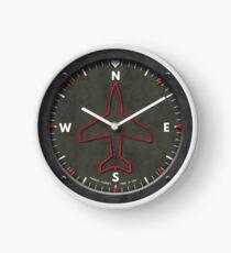 Heading Indicator Airplane Compass Clock Clock