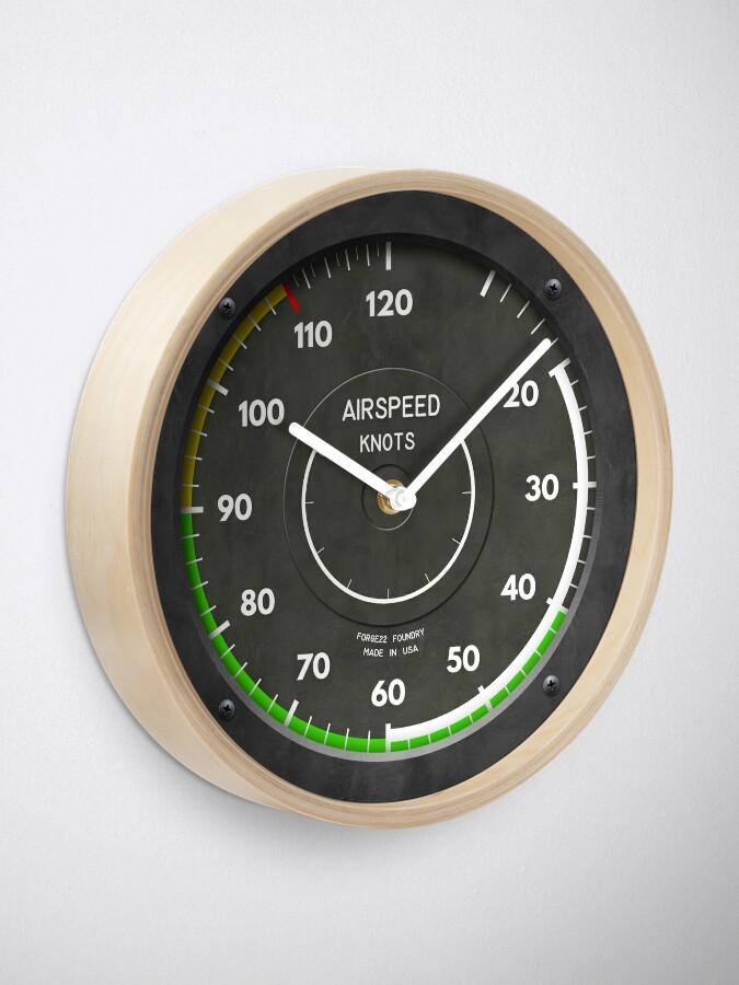 Alternate view of Airspeed Indicator Pilot Airplane Clock Clock