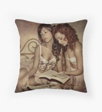 Don't tell him we used to read Sappho's lyrics Throw Pillow