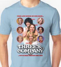 THREE'S COMPANY Come and knock on our door Unisex T-Shirt