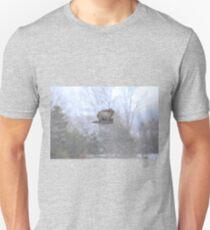 Great Gray Owl in Flight 2 Unisex T-Shirt
