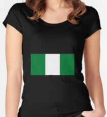 Nigeria Women's Fitted Scoop T-Shirt